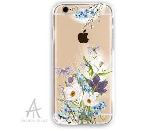 iPhone 6S Case, Floral Transparent iPhone 6 Case,  Anemones  TPU Case 6/6S pluss, Clear with Design Case iPhone SE, iPhone 5/5S, T-122