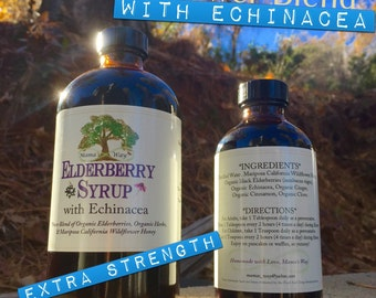 Elderberry Syrup with Echinacea,  Natural Immune Booster