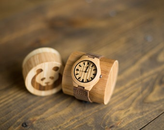 Bamboo Watch Zebra Wood Face (Small Face) - Your Wrist Will Thank You...