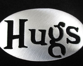 HUGS MAGNET-Door, Fridge Locker, Steel, Stocking stuffer, Door Prize, Wedding favor Super Strong 5lb