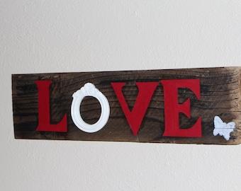 LOVE Wooden Wall Art Home Decor