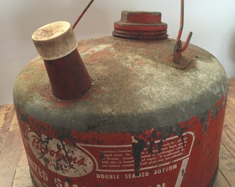 Vintage Galvanized Brookin's Gasoline Can