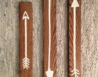 Hardwood Hand-Painted Rustic Arrows