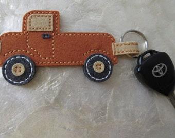 Felt Keychain, Truck Key Ring, Truck Keychain, Handmade Keychain,  Key Ring, Felt Key Ring, Handmade Key Ring