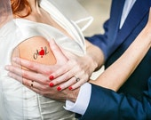 50 custom wedding tattoos: Initials & heart (gift of prompt, Tattoo, wedding, engagement, Valentine's day, badge...)