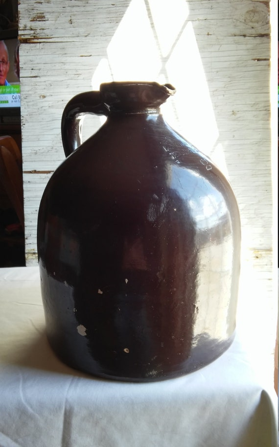 Vintage 1881-1894 E. Norton Bennington, VT. Wide Mouthed 2 Gallon Mollases/Vinegar/Cider Brown Jug