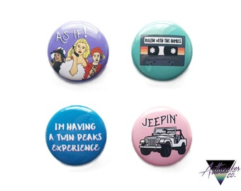 Clueless One Inch Pinback Button Set