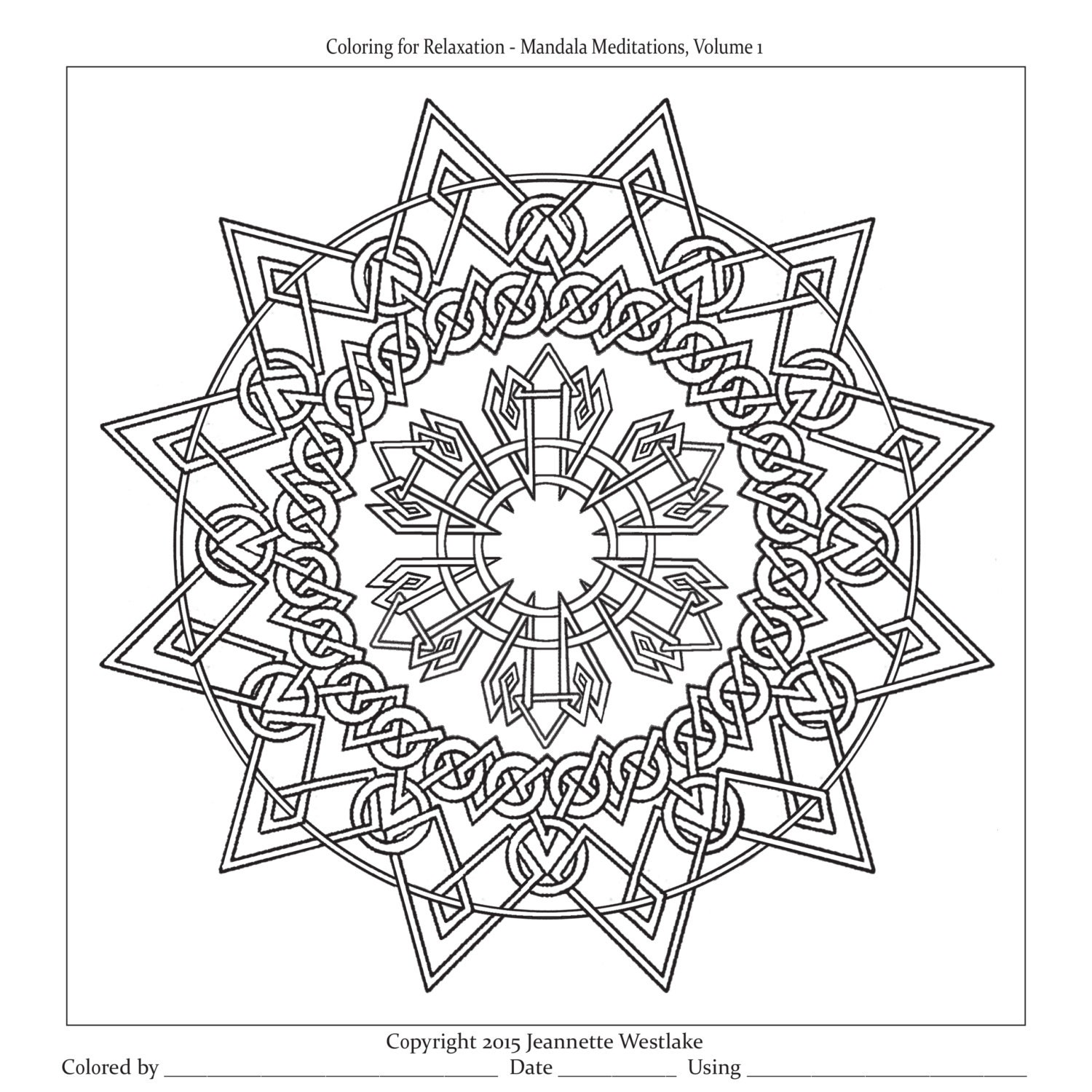 mandala meditations interlaced knotwork coloring pages