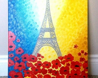 Blood Flower of Paris/ Living room Decor/ Modern painting