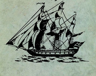 Sailing Ship - Antique Style Clear Stamp