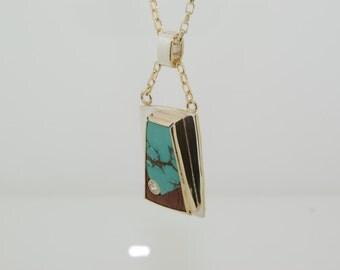 Hand made Art Deco pendant