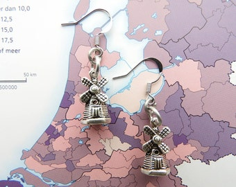 Dutch wind mill earrings from the 'Made in Holland'collection - Netherlands / Holland / Nederland / typical Dutch / Dutchie