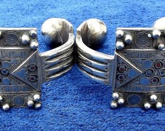 Paire de chevillières Sahariennes KHELKHAL Bracelets de chevilles en argent