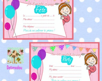PARTY CARD to download