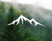 DECAL [Mountain] Vinyl Decal, Car Window Decal, Laptop Decal, Laptop Sticker, Water Bottle Decal, Phone Decal, Bumper Sticker, Car Decal