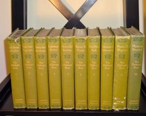 1907 THE CHILDREN'S HOUR Complete 10 Volume Set, Illustrated, Poems Myths Rhymes Fables Stories, A Christmas Carol, Robin Hood, Longfellow