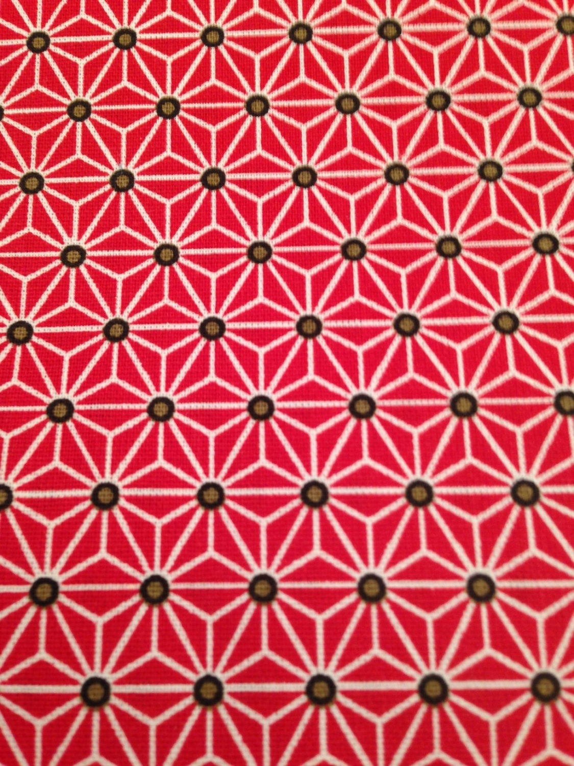 50x80 cm japanese fabric pattern red stars asanoha 100 for Star fabric australia