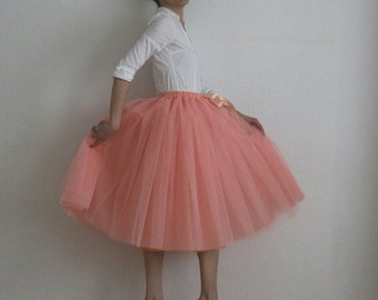 Tulle skirt petticoat melon skirt length 70 cm