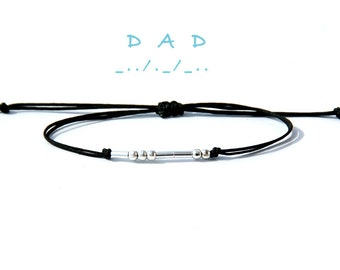 Dad morse code bracelet Gift for dad From daughter Stocking stuffer for Father Personalized gift for Dad