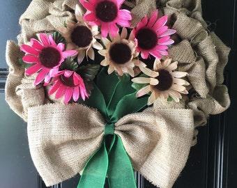 burlap wreath **FREE SHIPPING!!!!**