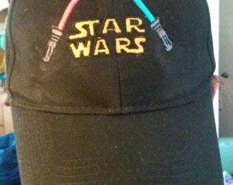 Embroidered lightsaber baseball cap