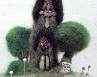Church Wool Pincushion