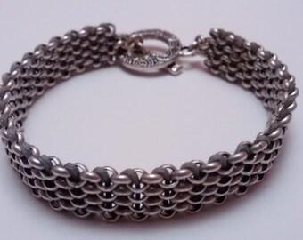 Woven chain bracelet - Silver