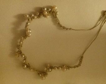 Handmade Pearl Bracelet/Necklace