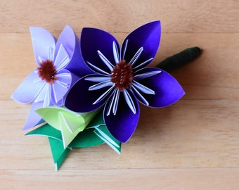 Two Flower Origami Corsage
