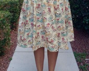 Retro bicycle skirt