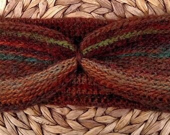 Crocheted Headband Earwarmer in Arcadia Color