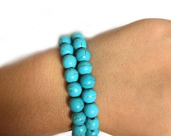 Beaded Bracelet Set - Turquoise