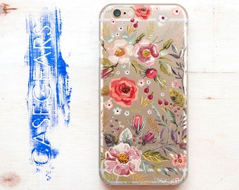 iPhone Case Floral Flower iPhone 6 Case Floral iPhone 6s Case Floral Phone Case Floral Flower Galaxy S6 S7 Edge Case Floral CGCP0069