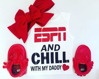 Espn and chill onesie or tee. For boys and girls!!