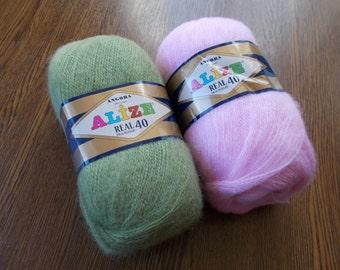 ANGORA yarn REAL 40, Alize yarn, mohair yarn, angora wool, angora yarn for knitting, crochet yarn, hand knitting yarn, yarn for sale
