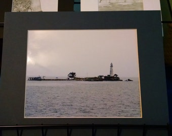 Boston Lighthouse, MA 8x10 matted to 11x14