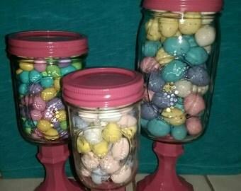 Mason Jar Candy Stands (Set of 3)