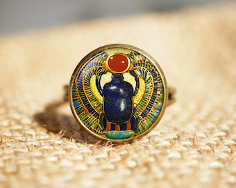 Egyptian Scarab rings, ancient egypt jewelry, Egypt rings, Egyptian jewelry, Scarab stud rings, Historical rings