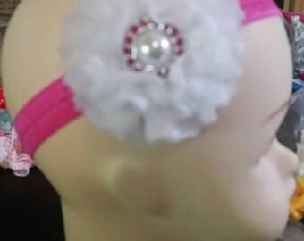 0 to 12 months flowered headbands