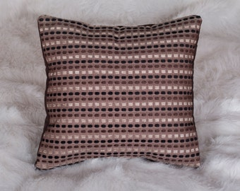 Urban Chic Collection 16x16 Brown Black Cream Velvet Decorative Throw Square Pillow