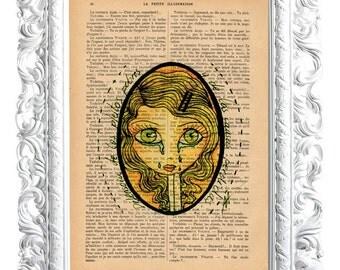 Magdalene tears. Print on French publication of illustration. 28x19cm.