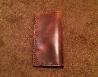 Simple leather checkbook covers. Gift for Him/gift for Her. Handmade with high quality leather.