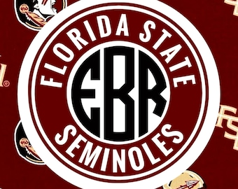 Florida State Seminoles Monogram Frame Cutting Files in Svg, Eps, Dxf, Png for Cricut & Silhouette | FSU Vector | Go Noles Graphics