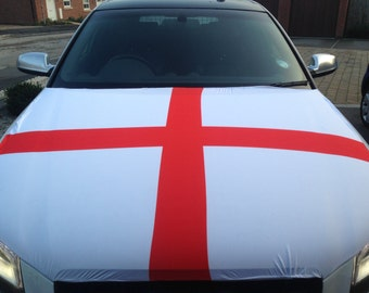 England Car Bonnet Flag