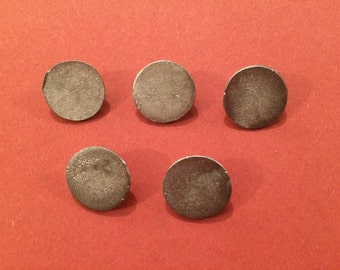 15mm Flat Pewter Button (5 Pack) - Re-Enactment, Living History