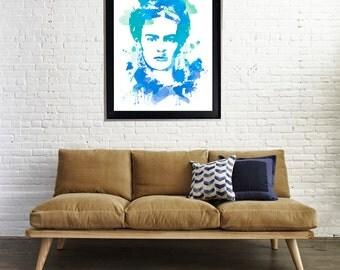 Frida Kahlo Watercolor Art Print Matte Print Poster 16x20 Water Color Motivation