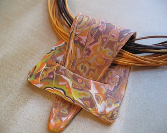 Modern Polymer Clay Necklace