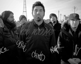 Deftones signed photo print - 12x8 inch - high quality -