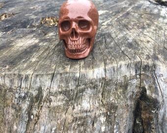 Gold Sandstone- Goldstone Crystal Skull