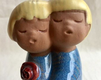 Vintage jie Gantofta Hugging Couple